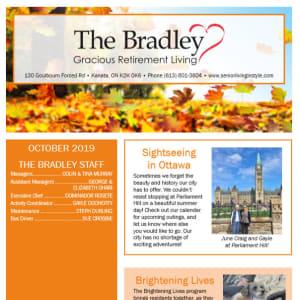 October The Bradley Gracious Retirement Living Newsletter