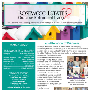 March Rosewood Estates newsletter