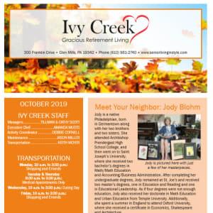 October Ivy Creek Gracious Retirement Living Newsletter