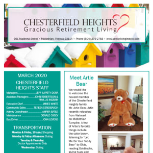 March Chesterfield Heights newsletter