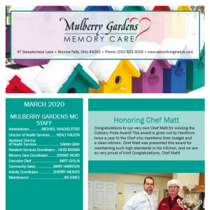 March Mulberry Gardens Memory Care Newsletter