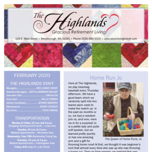 February The Highlands Gracious Retirement Living newsletter
