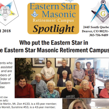Senior man playing at Eastern Star Masonic Retirement Campus in Denver, CO