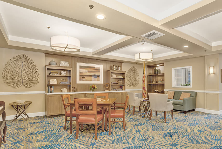 Our community at the senior living facility in Mercer Island