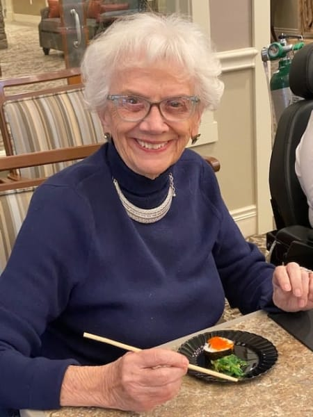 Resident Enjoying Sushi!