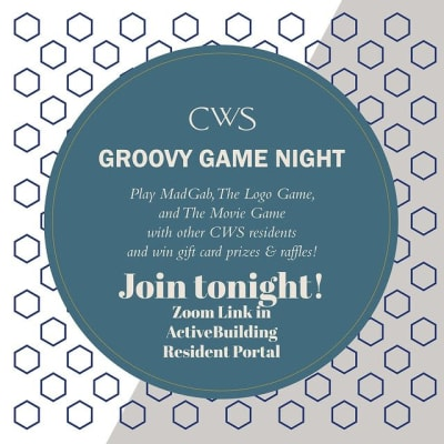 Groovy game night at Marquis Lofts on Sabine in Houston, Texas