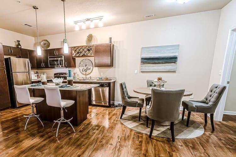 Open-concept floor plan at Sage Corpus Christi in Corpus Christi, Texas