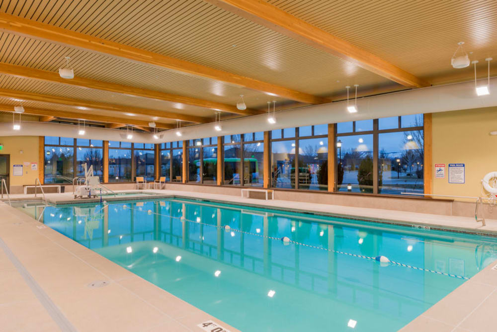 The community pool at Touchmark at Meadow Lake Village in Meridian, Idaho