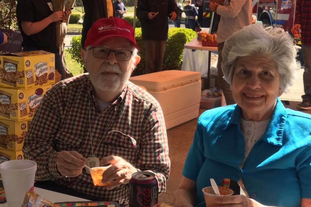 Happy two residents at Parsons House Cypress in Cypress, Texas