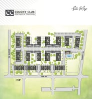Printable site map of Colony Club in Bedford, Ohio