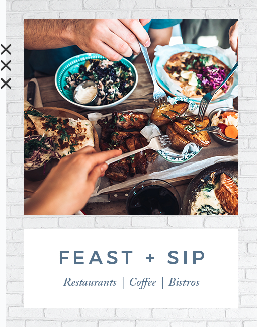 Feast and sip near Harrison Tower in Portland, Oregon