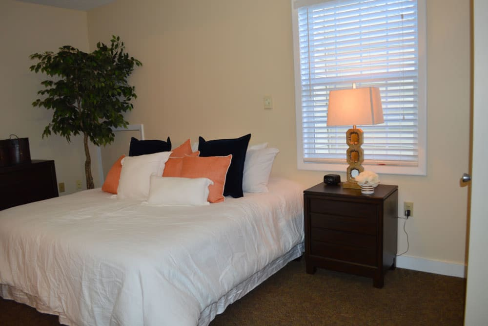 Spacious resident bedroom at The Willows at Springhurst in Louisville, Kentucky