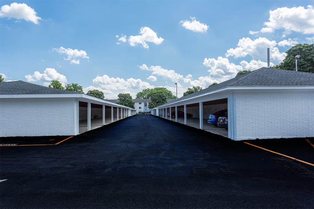 Covered carport parking at Wedgewood West in Rochester, New York