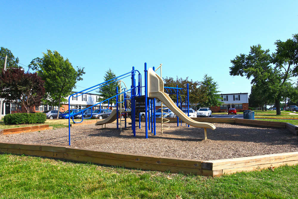 A playground that is great for entertaining at Riverview Townhomes in Halethorpe, MD