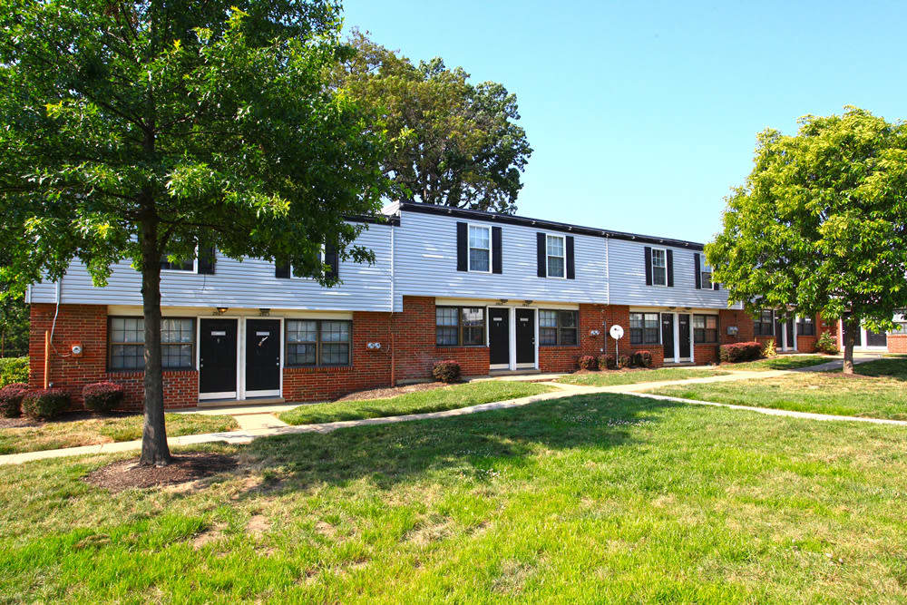 Exterior of Riverview Townhomes in Halethorpe, MD