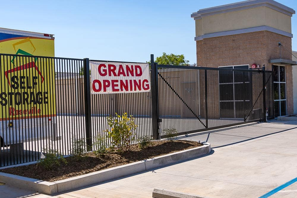 Grand opening at Roseville Self Storage in Roseville, CA