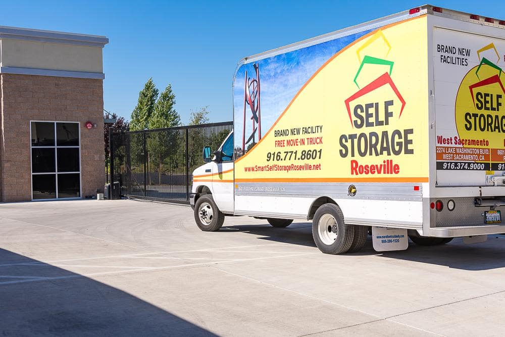 Truck at Roseville Self Storage in Roseville, CA