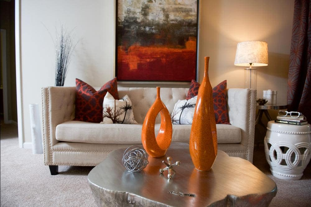 Beautiful living room with some comfy chairs at Manor Six Forks