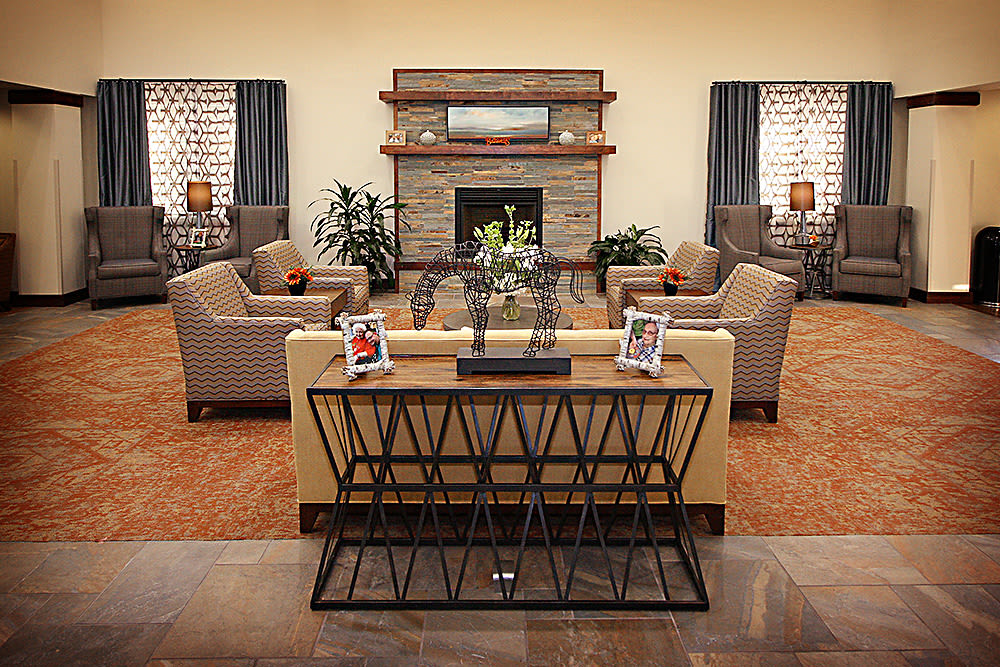 Living room at Prairie House Assisted Living and Memory Care in Broken Arrow, Oklahoma