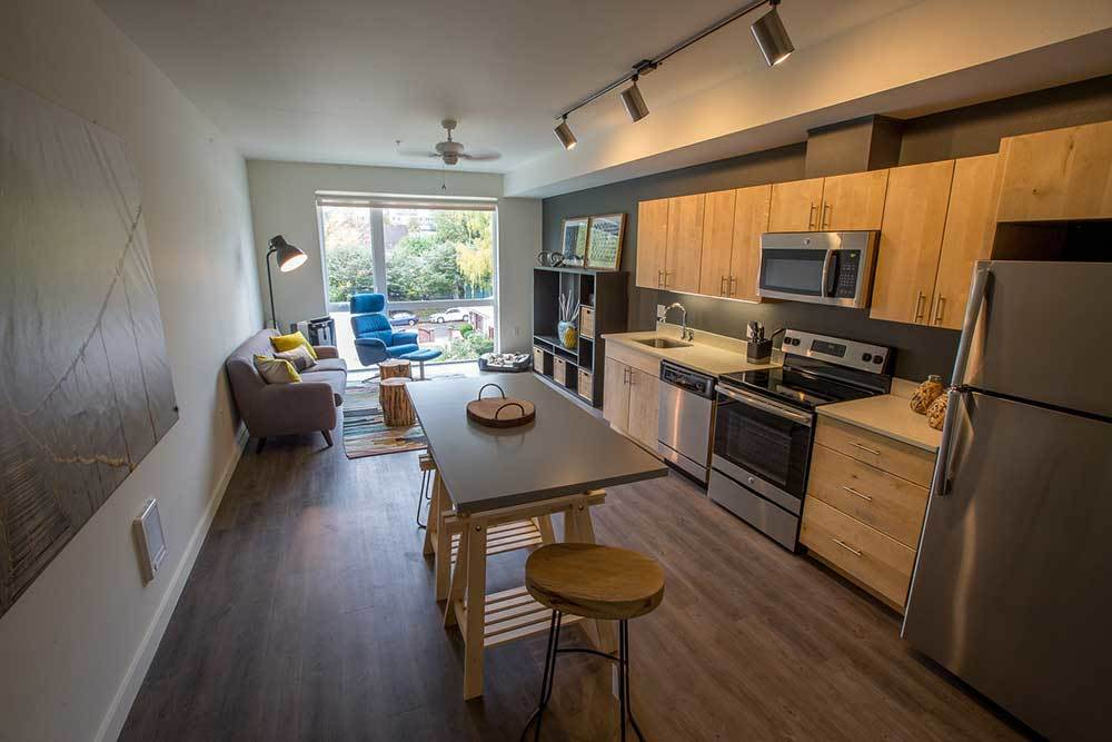 Wonderful open floor plan at Montessa in Portland, Oregon