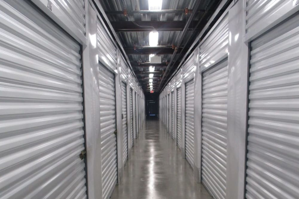 Indoor storage units at Mini Storage Depot in Westfield, Indiana