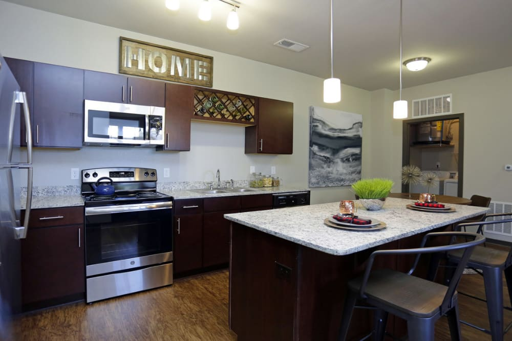 Stainless Steel & Granite Kitchen Apartments Springs at Allison Valley in Colorado Springs, CO