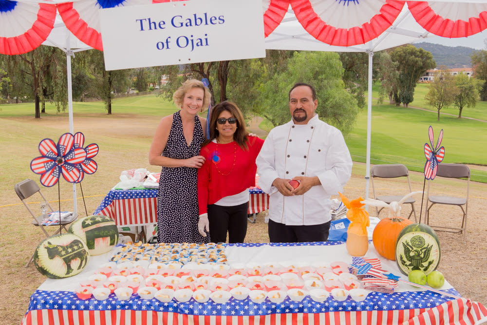 Chef prepared food for a political campaign at Gables of Ojai in Ojai, California