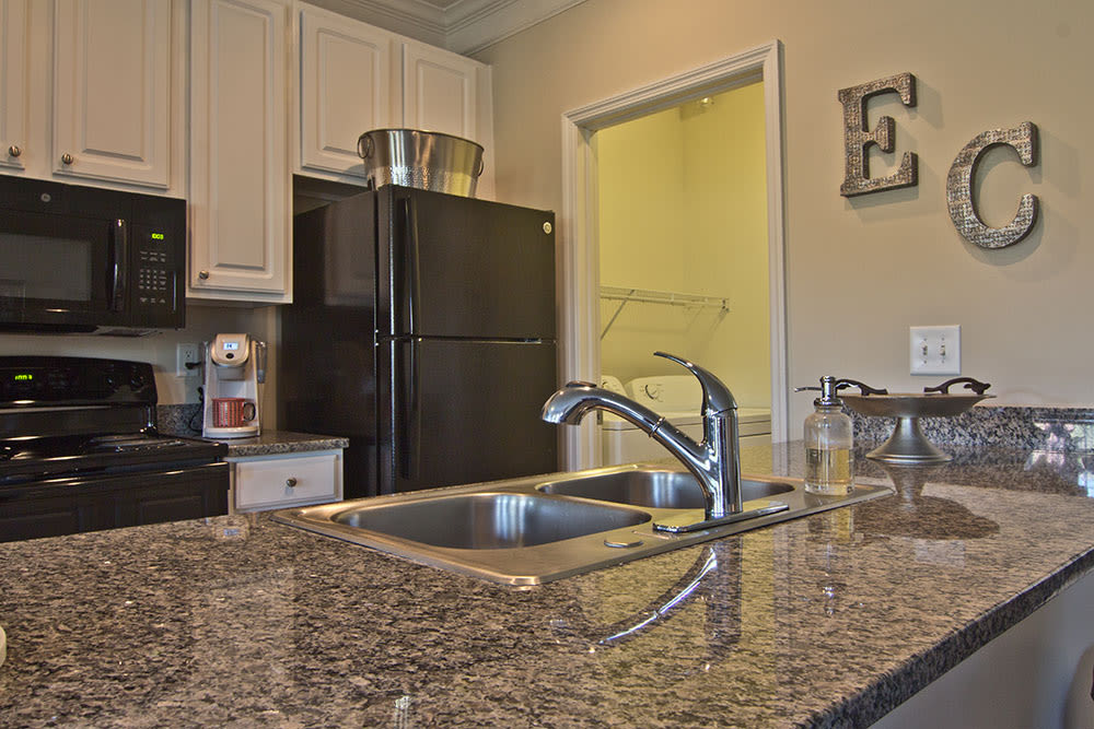 Granite counter tops at Easton Commons in Columbus, Ohio