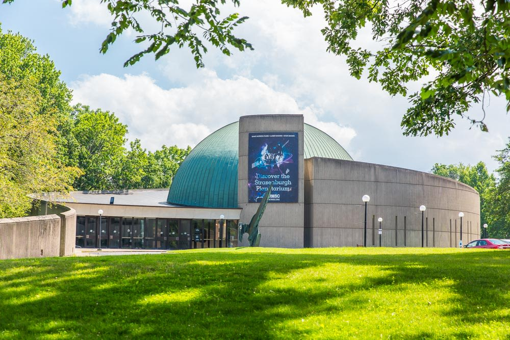 Strasenburgh Planetarium at Arnold Court in Rochester, New York