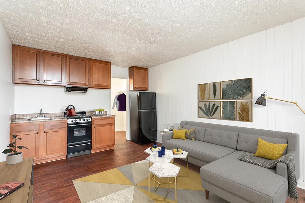 Living Room at Brockport Landing in Brockport, New York