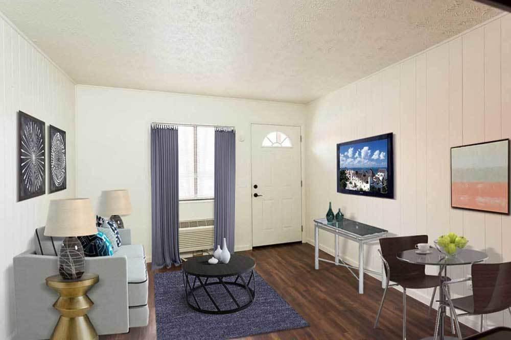 Brockport Landing offers a cozy living room in Brockport, New York