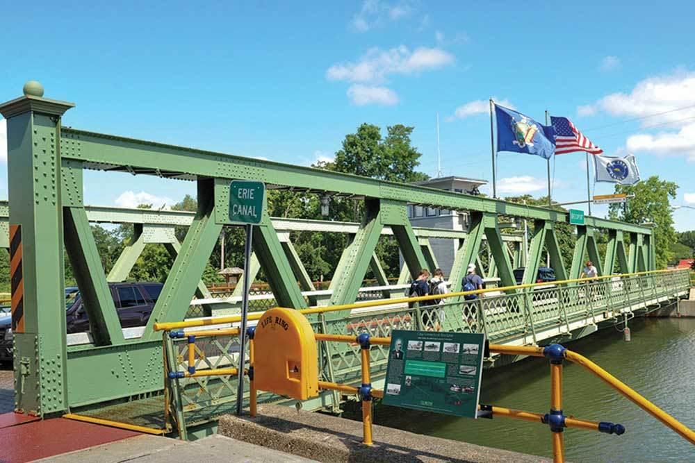 A bridge near Brockport Landing in Brockport, New York
