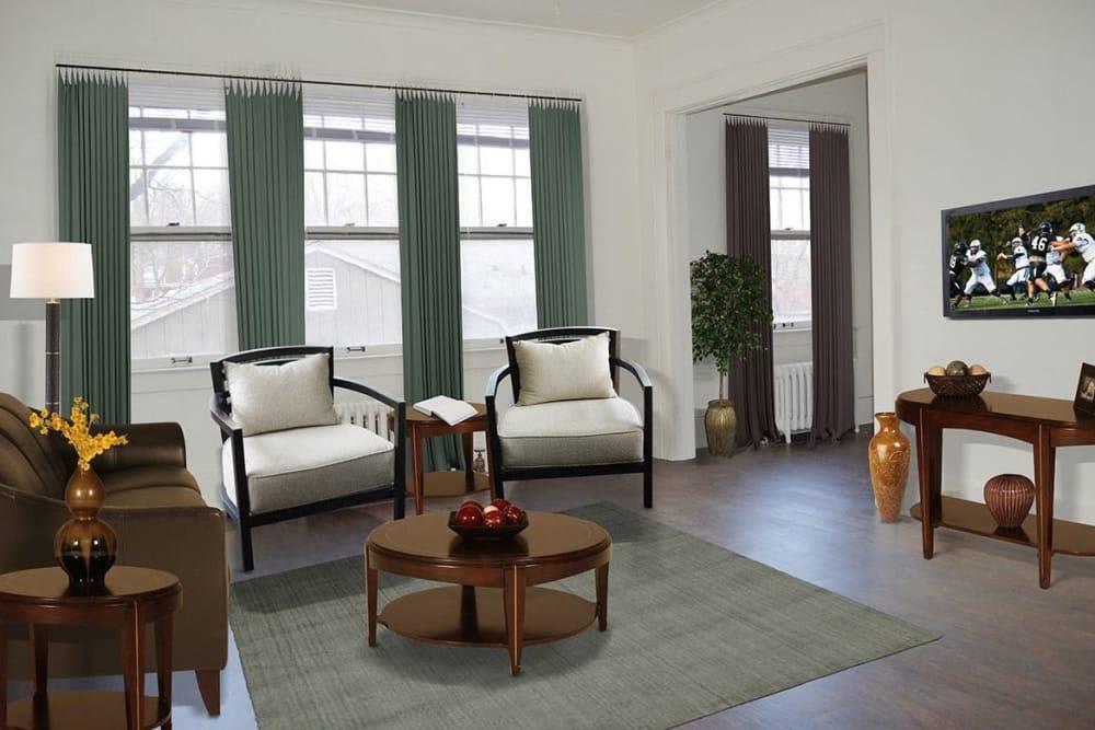 Inviting living room at Frontenac/Genesee in Syracuse, New York