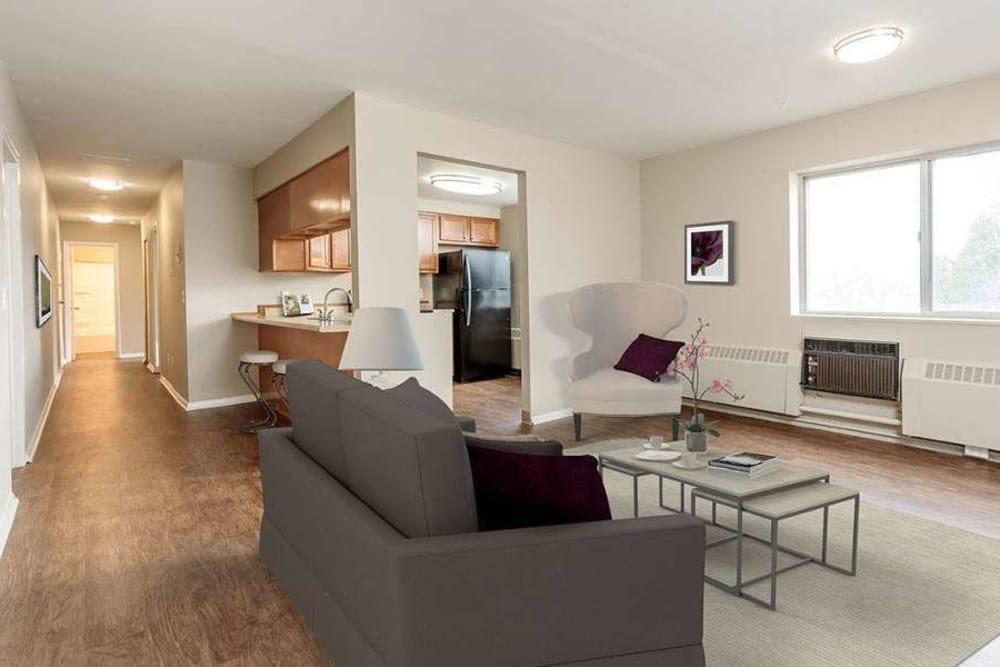 Beautifully designed living room at Manlius Academy in Manlius, New York