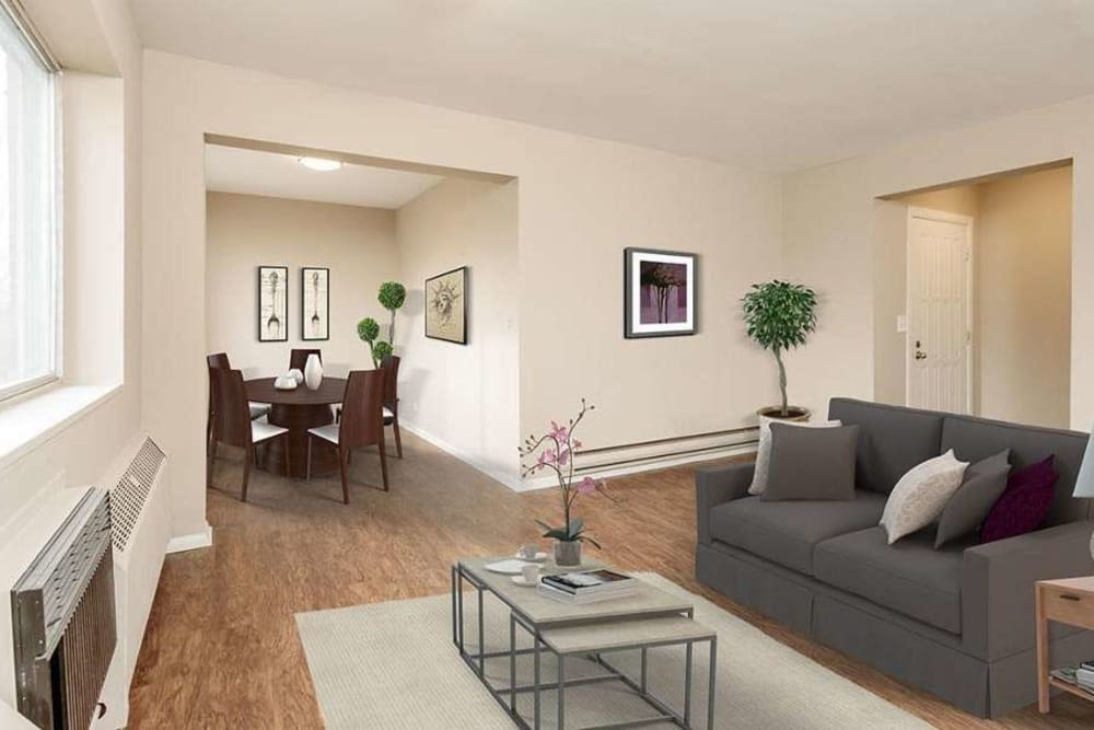 Spacious living area at Manlius Academy in Manlius, New York