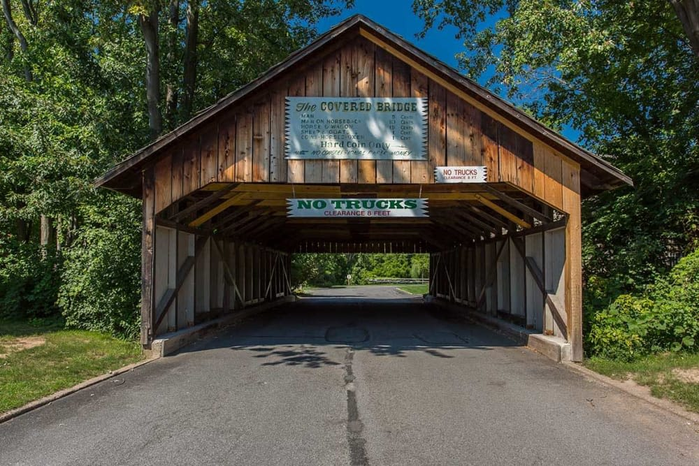 Covered bridge near The Residences at Covered Bridge in Liverpool, New York