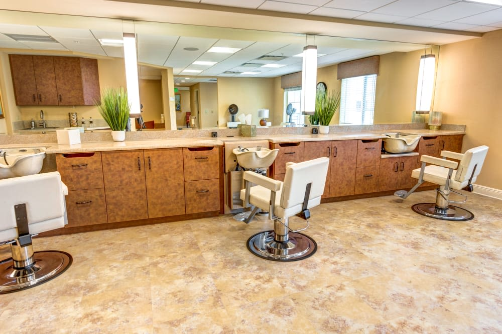 Hair salon at The Meridian at Boca Raton in Boca Raton, Florida.
