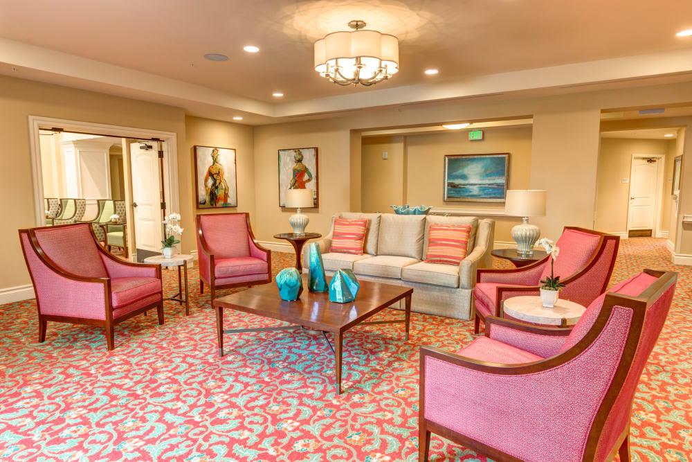 Sitting area at The Meridian at Boca Raton in Boca Raton, Florida