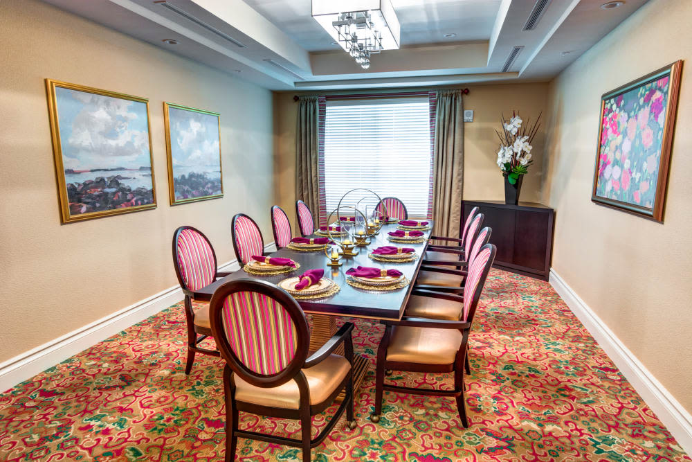 Private Dining Room at The Meridian at Boca Raton in Boca Raton, Florida