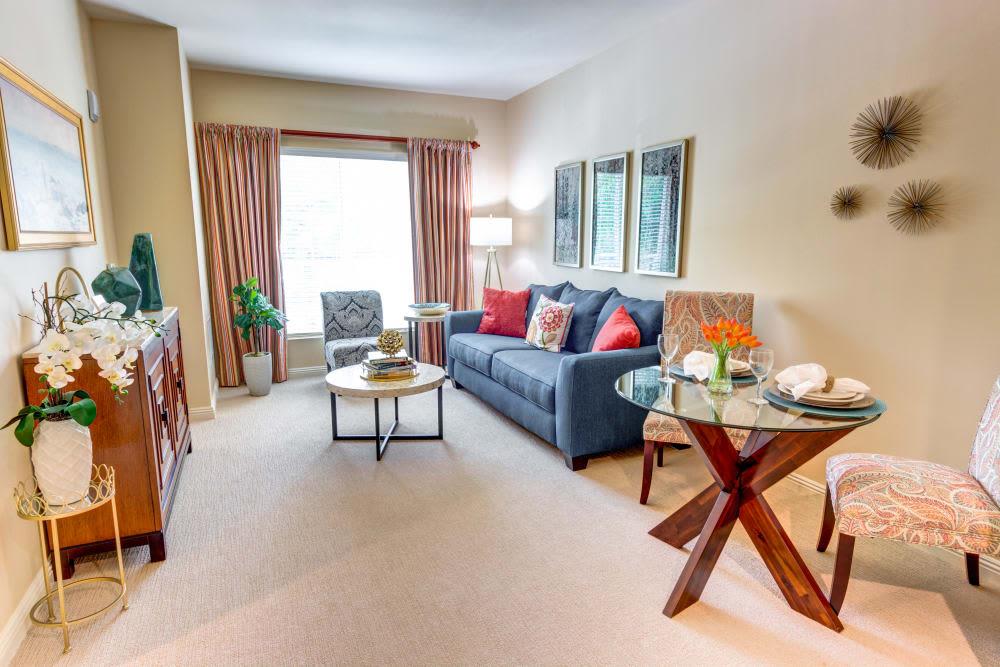 Apartment living room at The Meridian at Boca Raton in Boca Raton, Florida