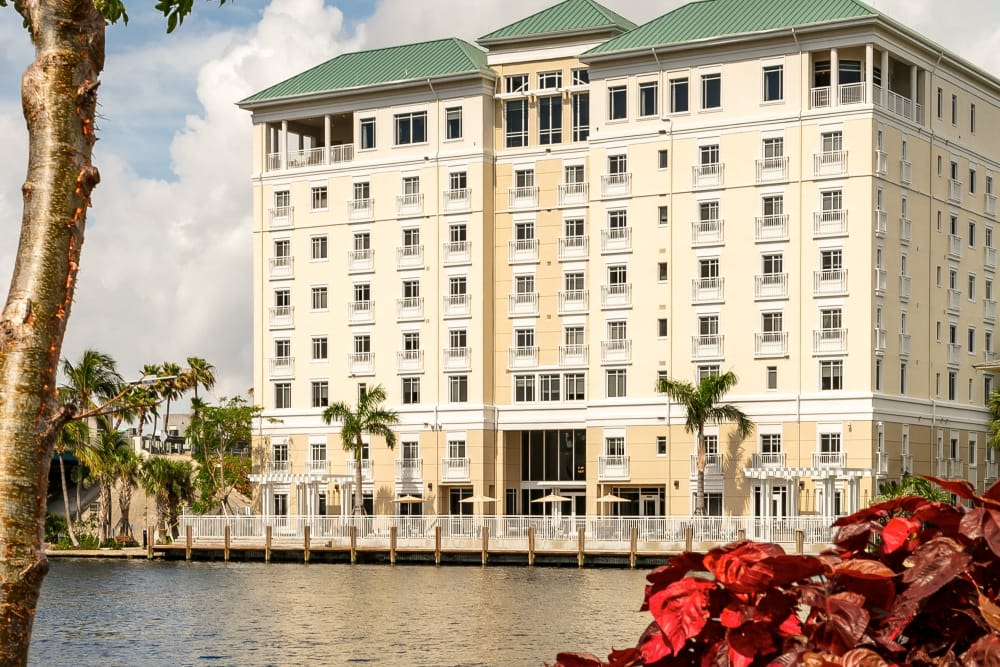 Beautiful river views at The Meridian at Waterways in Fort Lauderdale, Florida.