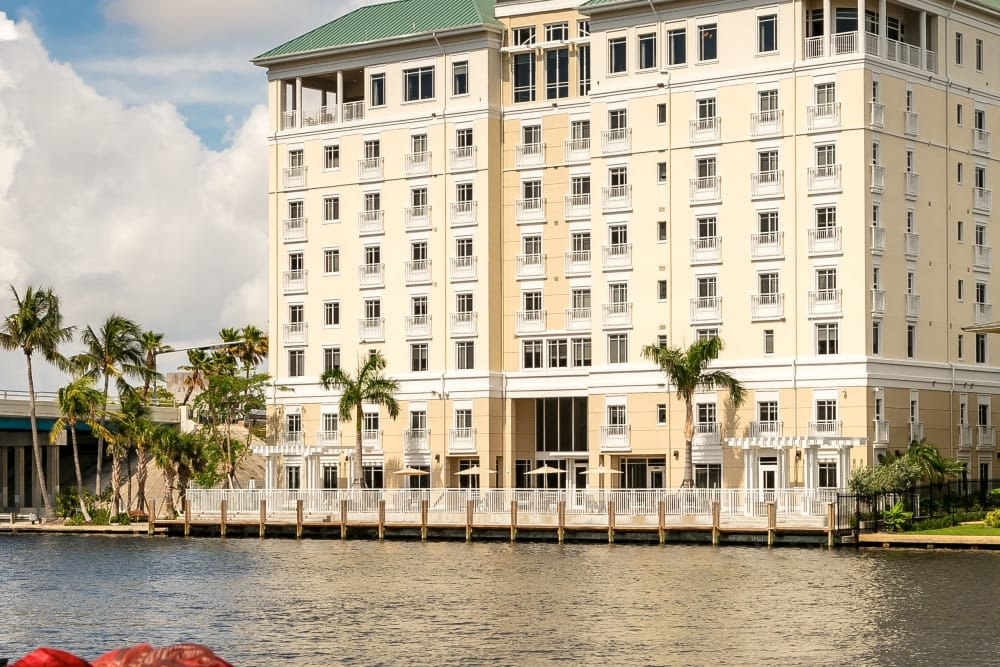 Located right on the water, The Meridian at Waterways is a peaceful oasis in Fort Lauderdale, Florida.