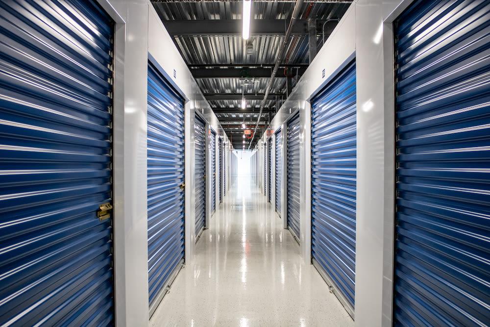 Indoor storage unit at Atlantic Self Storage