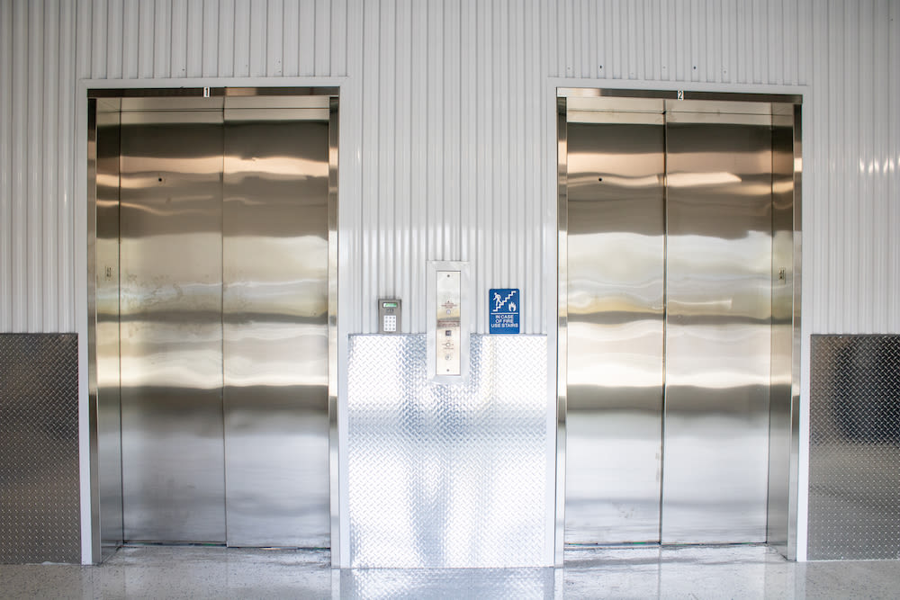 Elevators at Atlantic Self Storage