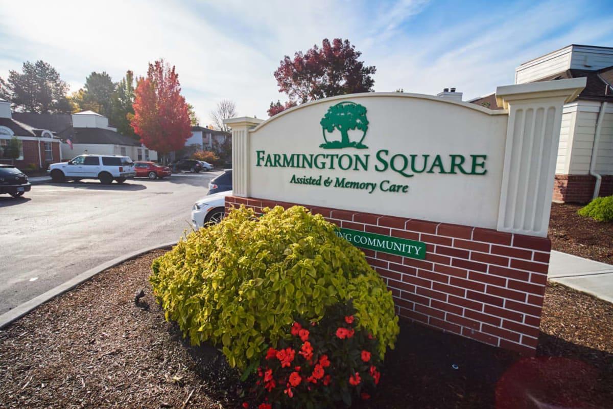 Signage in front of Farmington Square Beaverton in Beaverton, Oregon
