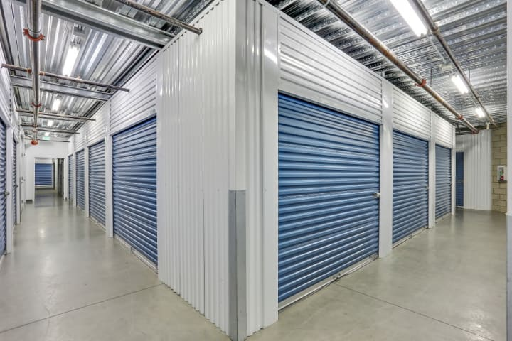 Hallways for our interior storage units are always kept clean and regularly checked with physical walkthroughs.