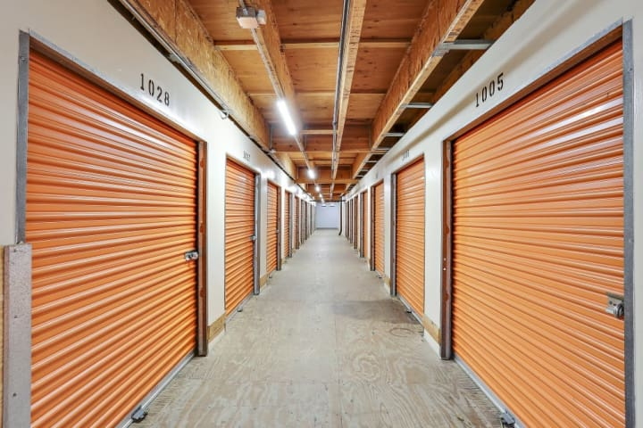 A hallway at A-1 Self Storage at 3040 Oceanside Boulevard in Oceanside, California.