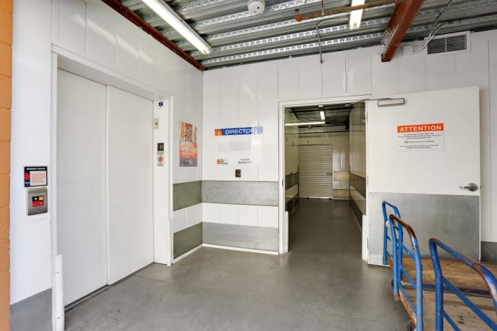 Push carts, elevators, and security doors are installed around the facility at A-1 Self Storage in Chula Vista for your convenience.