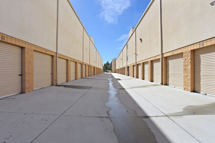 Wide driveways allow for travel through the facility at A-1 Self Storage in Chula Vista, even during peak busy hours.