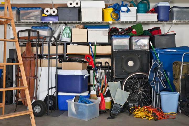 Start by tackling the garage when organizing your home for the winter